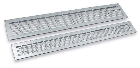 Решетка вентиляционная 480х60мм., серый купить по цене 278.74 руб.